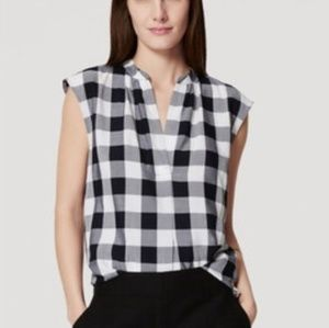 loft gingham blouse